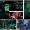 These are some references from several films and games I collected to design the MFP Interface. (Pictures show screencaps from 'Avatar', 'Blacklight Retribution', 'Crysis 2', 'Hard Reset', 'Iron Man' and 'Monday Night Combat'.).