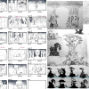 These are the sketches I made for the storyboard (l.) and the ancient tree (r.) Meera is visiting within the scene.