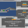 Some screenshots from the implementation of the animations I did today. The image on the upper left shows our current test scene for the scripting stuff.