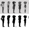 These are the first Character Concepts made by Caty D. Blättermann.