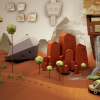 A faked screenshot to define the style, as well as the setting and to get a first visual idea of the game. Made by Caty D. Blättermann.