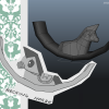 Rocking Horse - On the left the concept made by Caty and on the right the 3d Model made by Julia P.